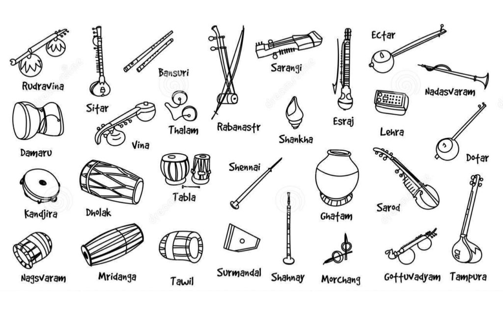 Carnatic and Hindustani Classical Music Instruments