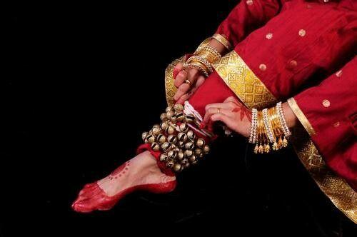 kathak dancer feet