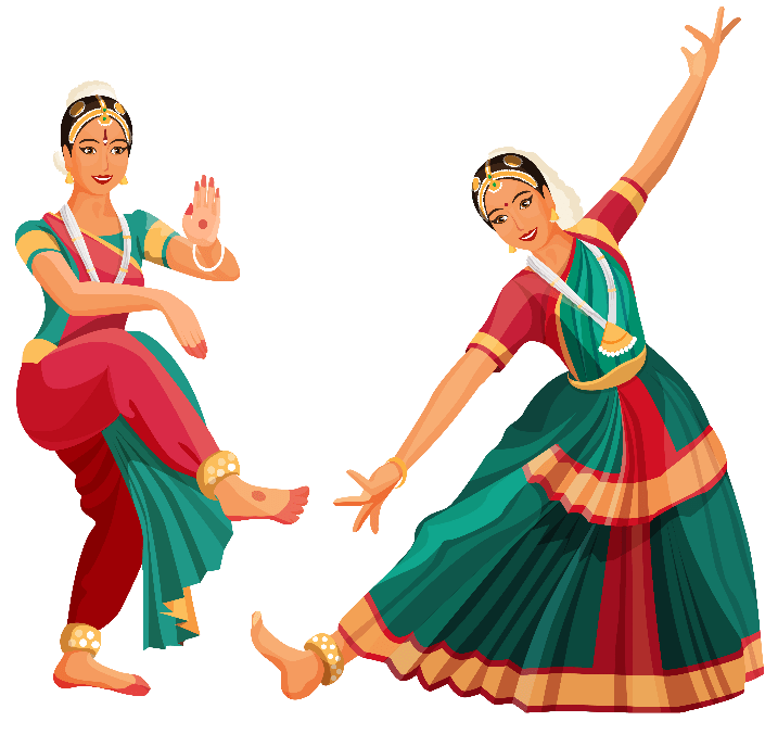 Dancer Performing on Bharatanatyam Songs
