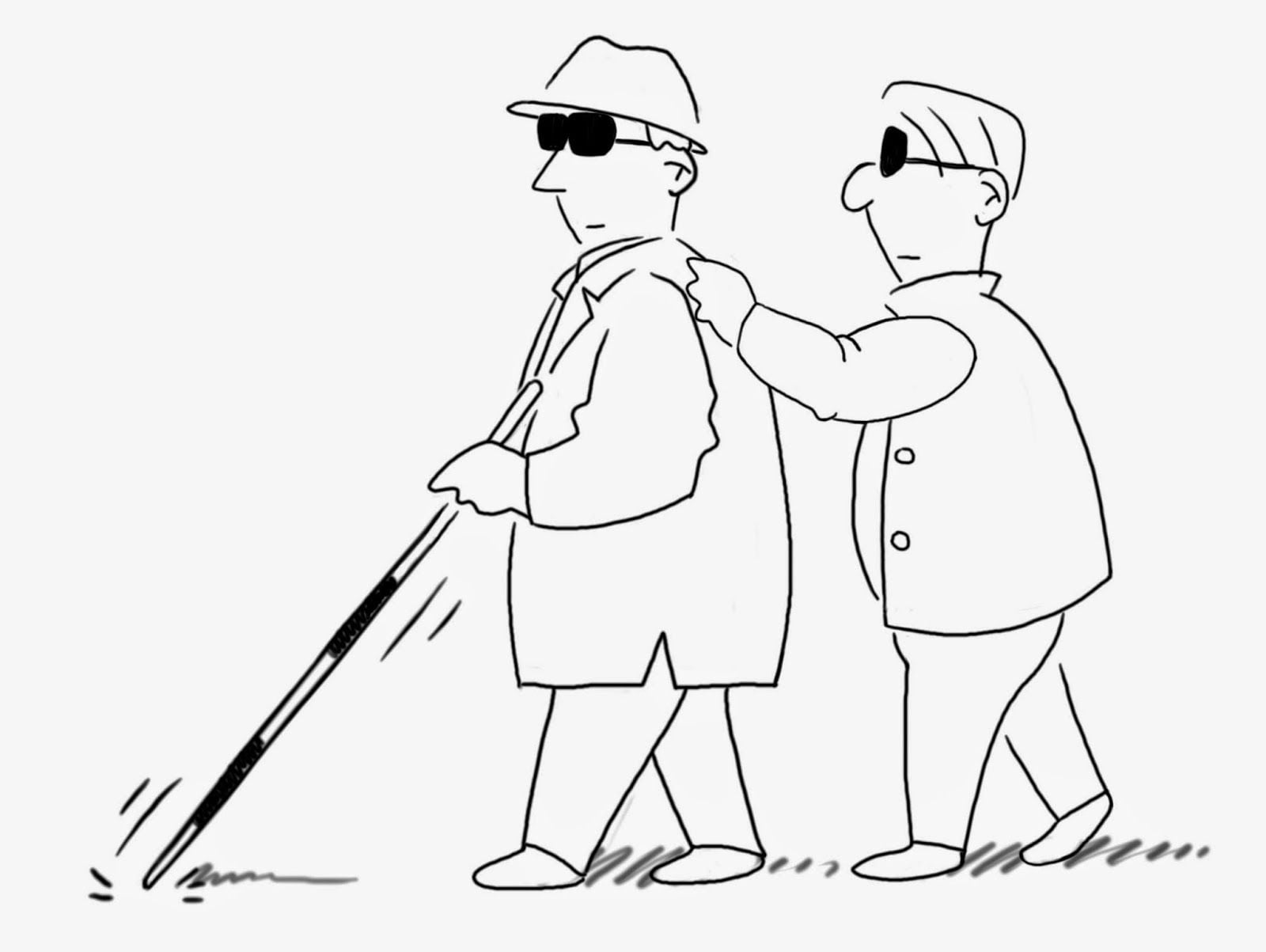 Irony example: blind leading the blind